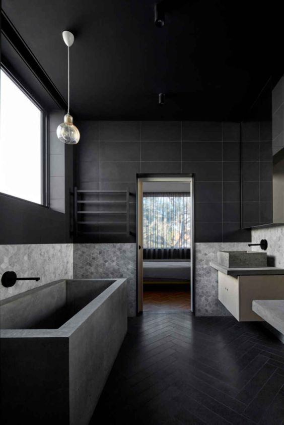 bathroom black ideas 10