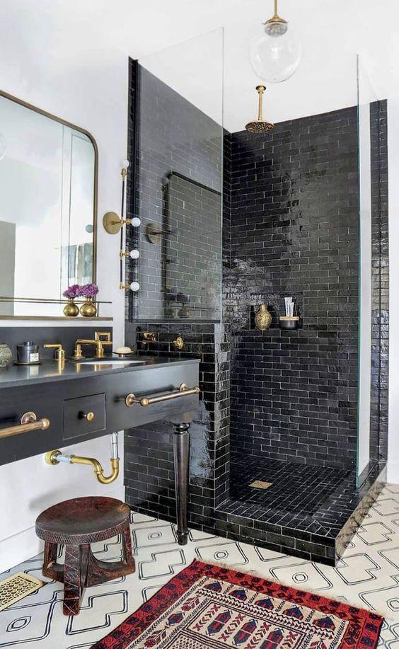 bathroom black ideas 13