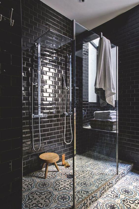 bathroom black ideas 14