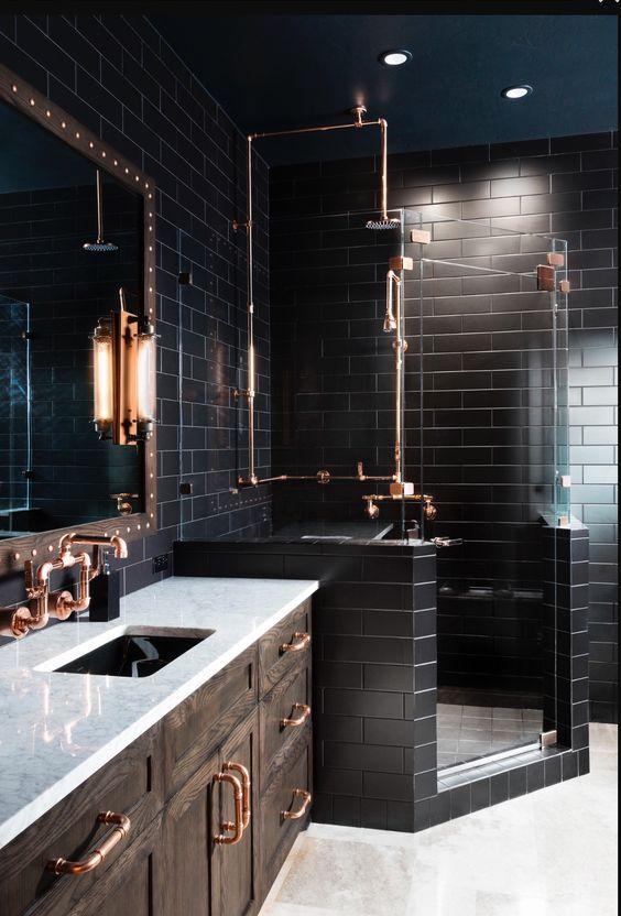 bathroom black ideas 15