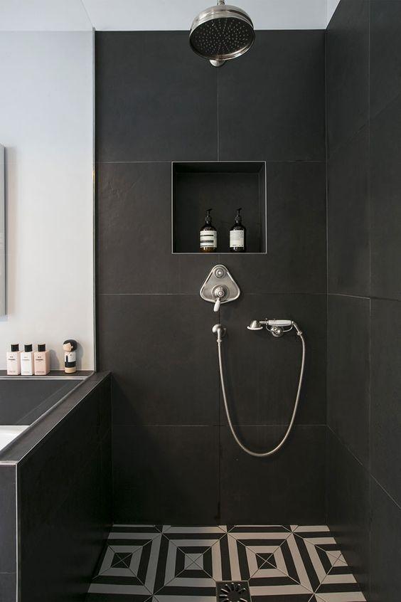 bathroom black ideas 16