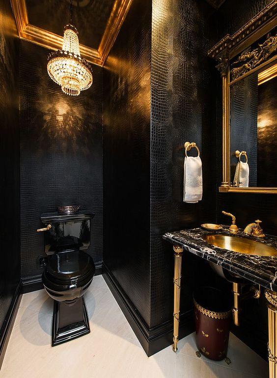bathroom black ideas 17