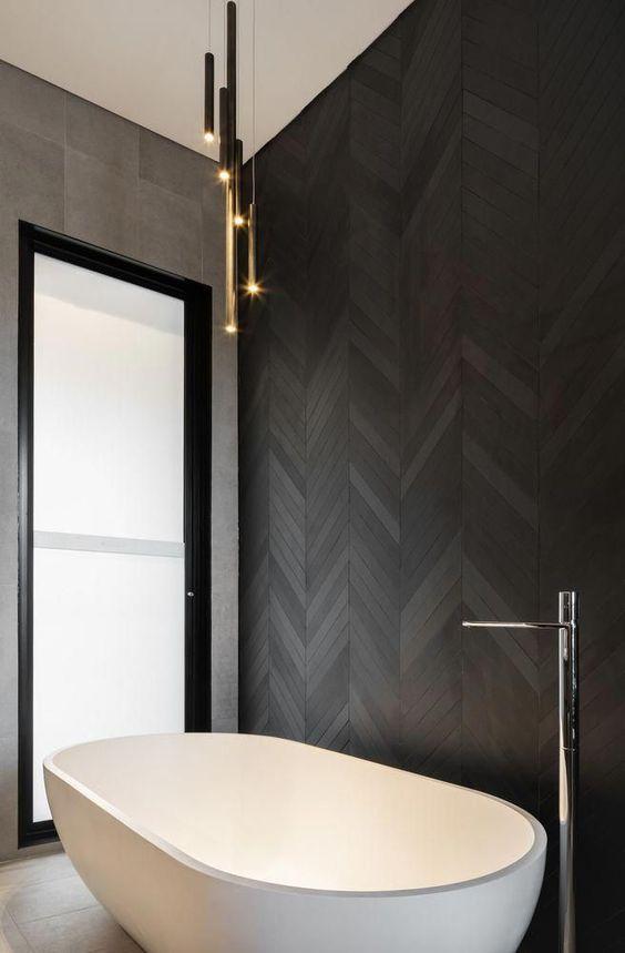 Bathroom Black Ideas: Captivating Black Background