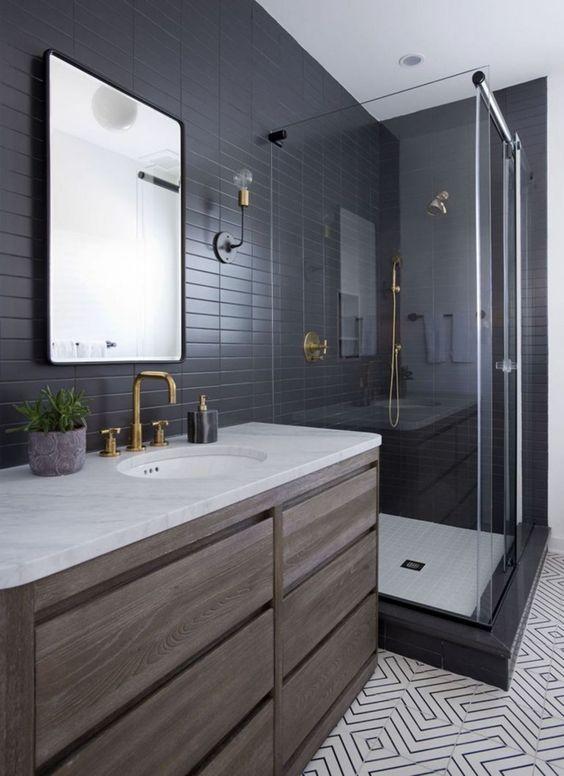 bathroom black ideas 9