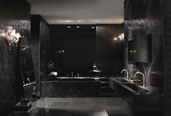 Intimidating Black Bathroom Ideas That'll Make You Stunned