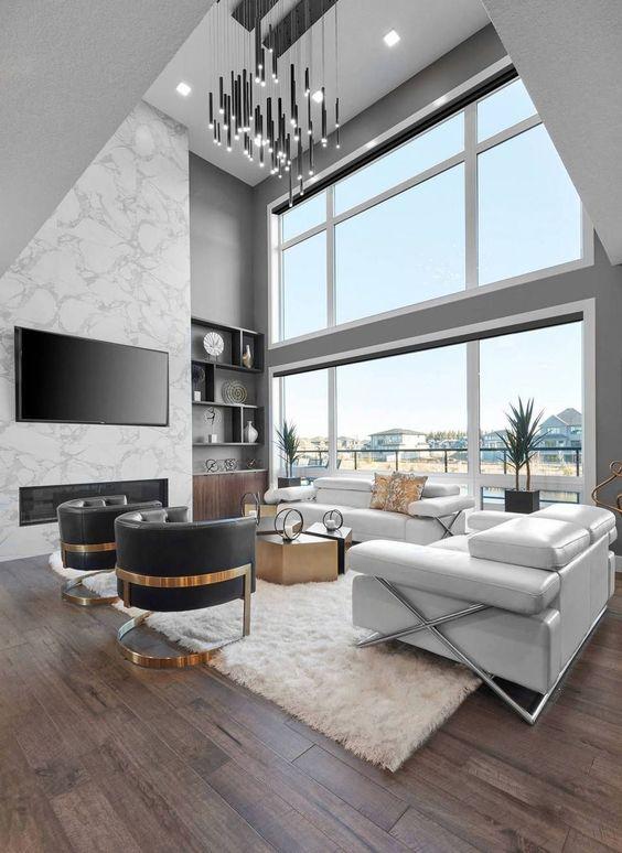 Big Living Room Ideas: Bright Neutral Room