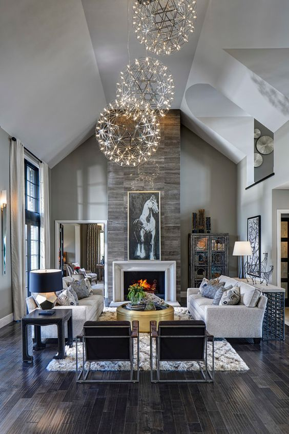 Big Living Room Ideas: Simple and Luxurious
