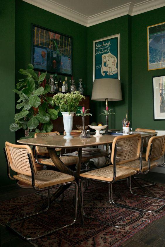 green dining room ideas 10