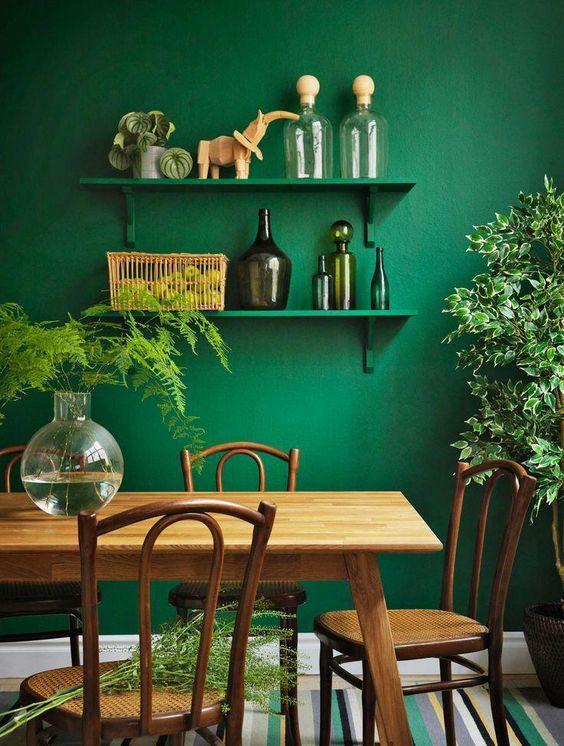 green dining room ideas 12