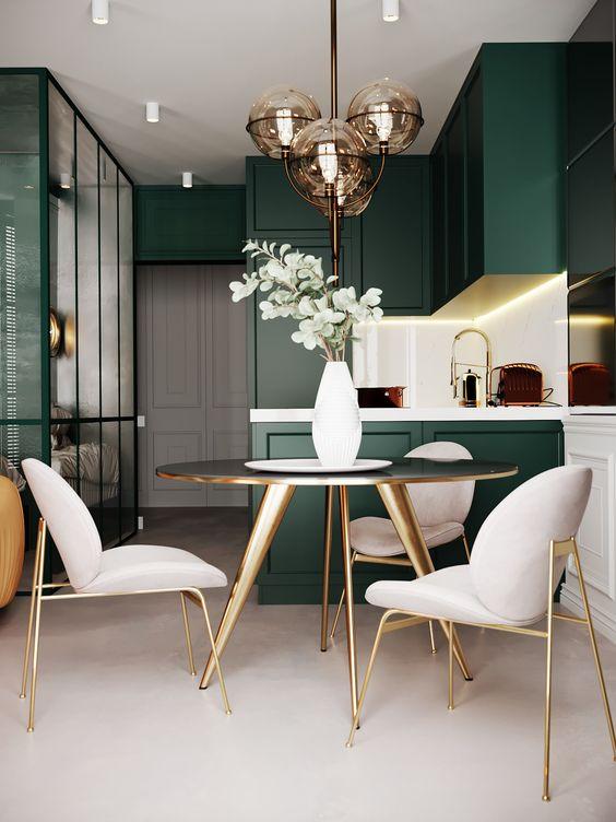 green dining room ideas 14