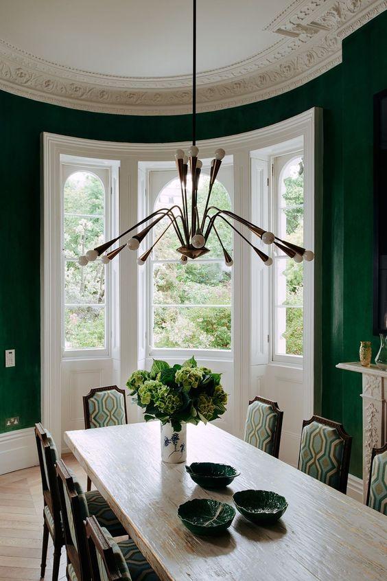 green dining room ideas 17