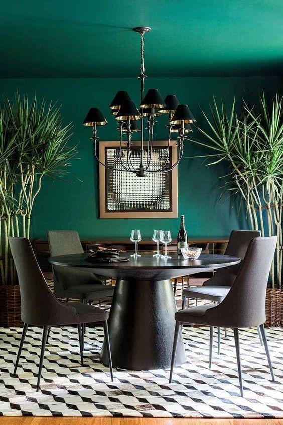Green Dining Room Ideas: Breathtaking Emerald Green