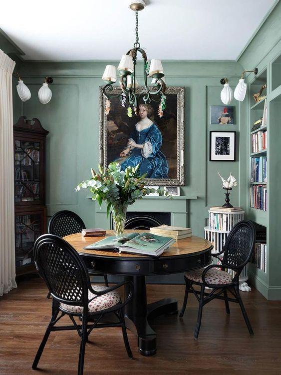 Green Dining Room Ideas: Calming Light Green