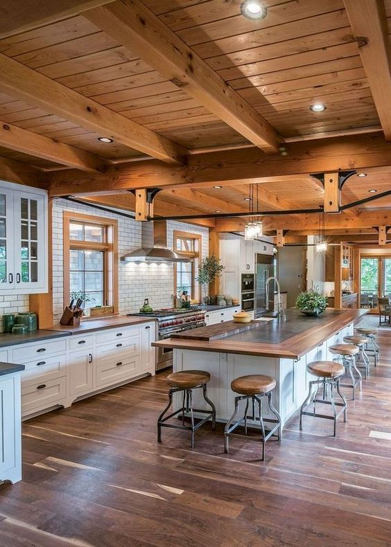 Kitchen with Islands Ideas: Captivating Modern Farmhouse