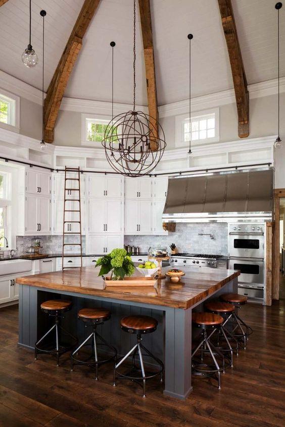 Kitchen with Islands Ideas: Sleek Kitchen Island