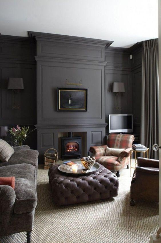 living room black ideas 11