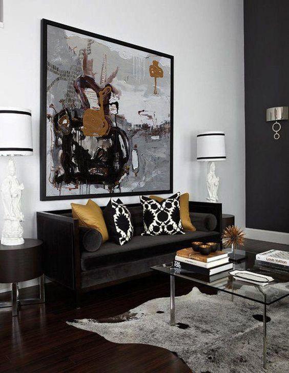living room black ideas 14
