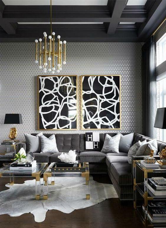 living room black ideas 15