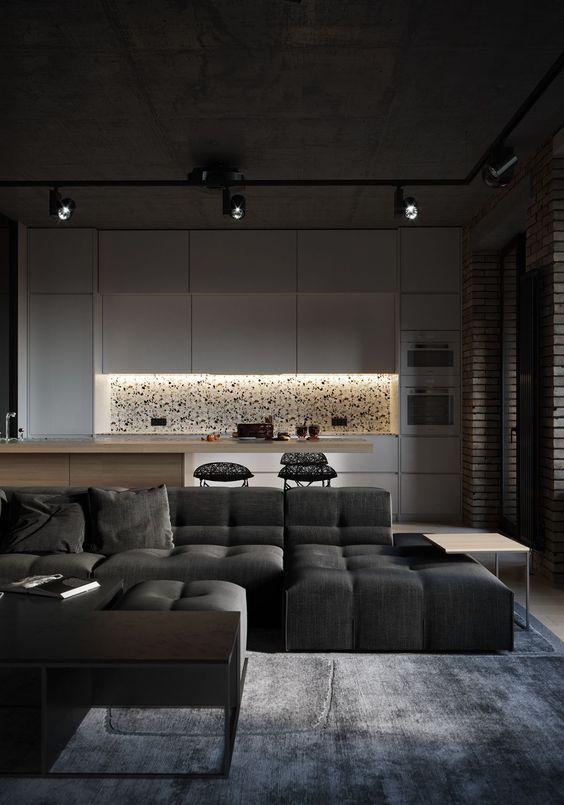 living room black ideas 17
