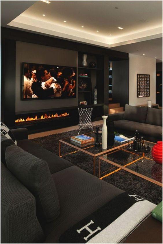 living room black ideas 18