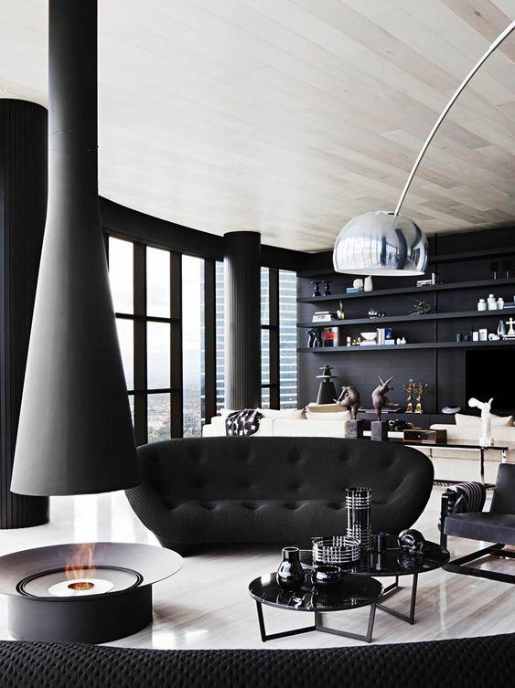 living room black ideas 4