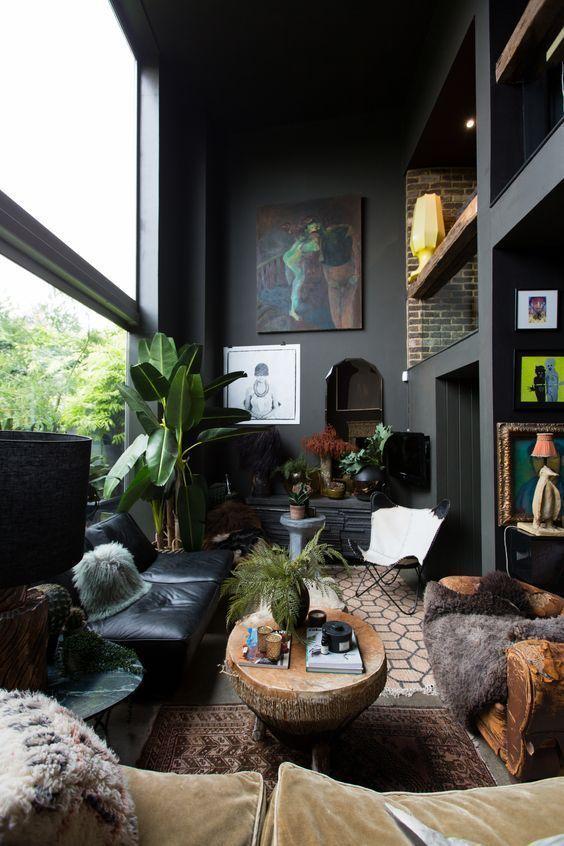 living room black ideas 6