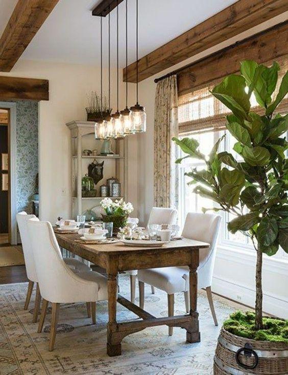 Rustic Dining Room Ideas: Elegant Rustic Area