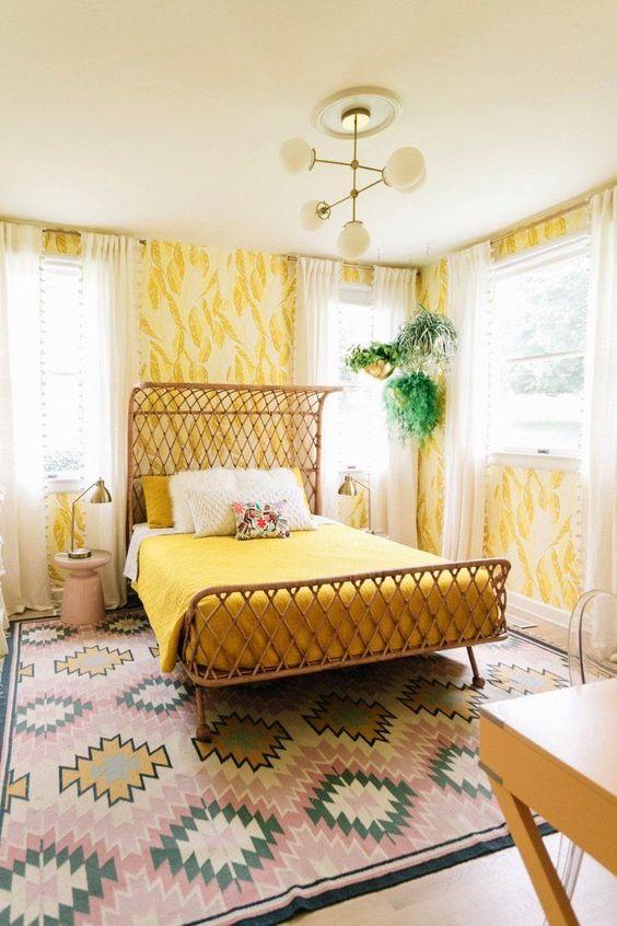 yellow bedroom ideas 17