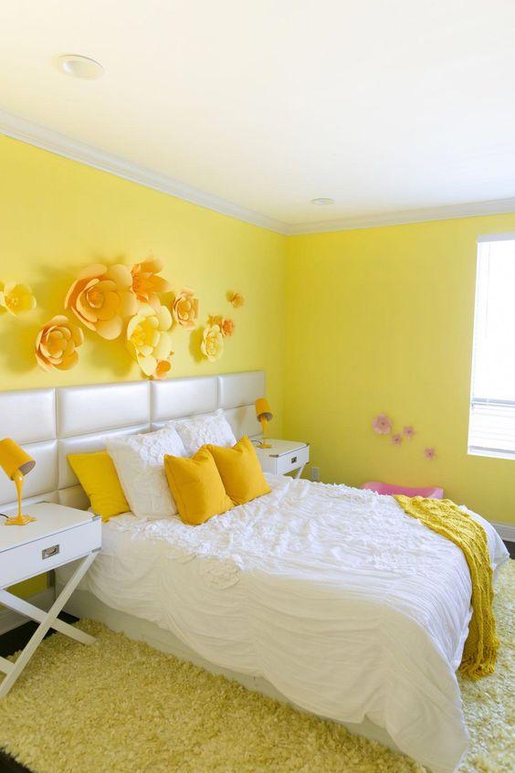 Yellow Bedroom Ideas: Decorative Yellow Room