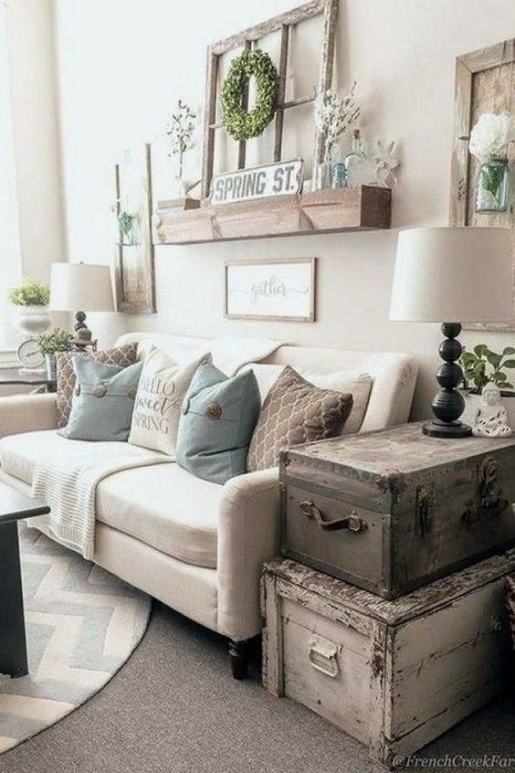farmhouse living room ideas 11