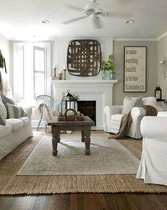 farmhouse living room ideas 12