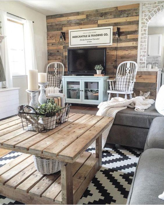 farmhouse living room ideas 15