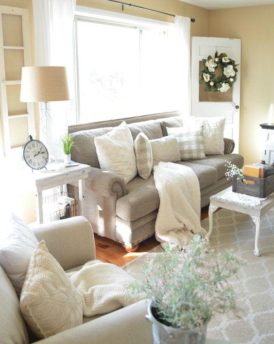 farmhouse living room ideas 16