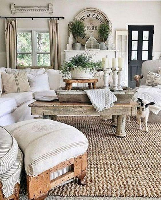 farmhouse living room ideas 17