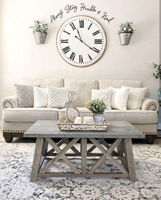 farmhouse living room ideas 18