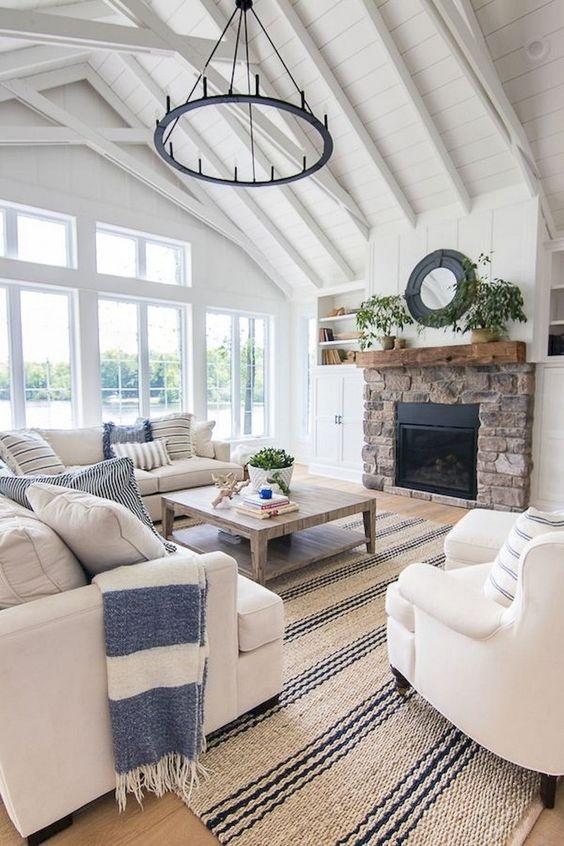 farmhouse living room ideas 19