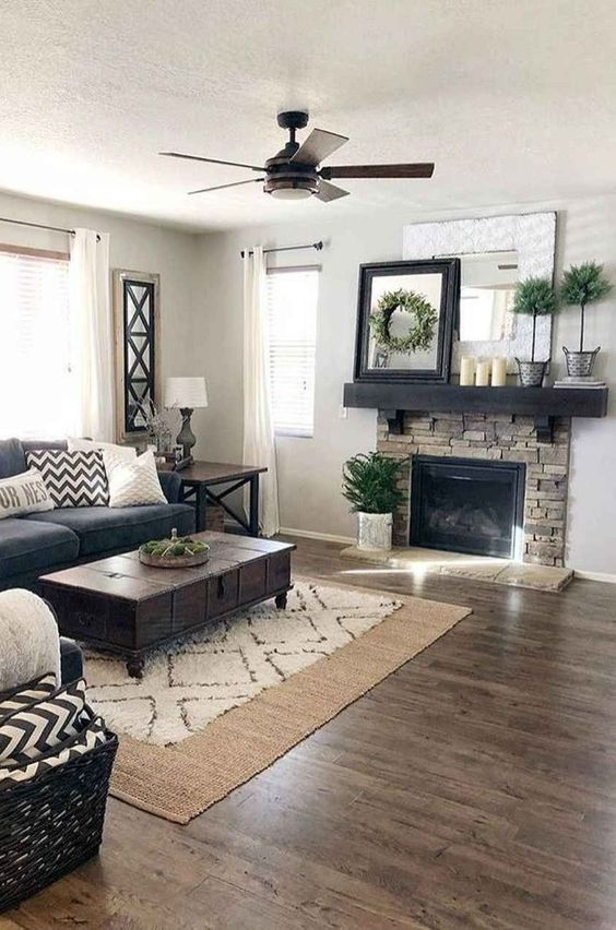 farmhouse living room ideas 6