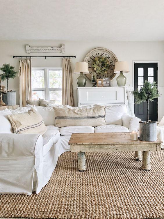farmhouse living room ideas 7