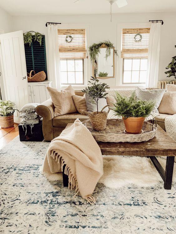 farmhouse living room ideas 9