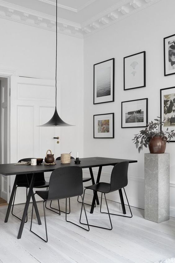 Minimalist Dining Room Ideas: Stylish Monochromatic Look