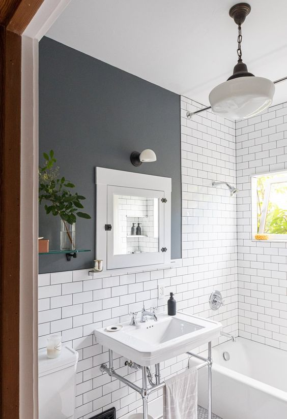 Vintage Bathroom Ideas: Minimalist Vintage Bathroom