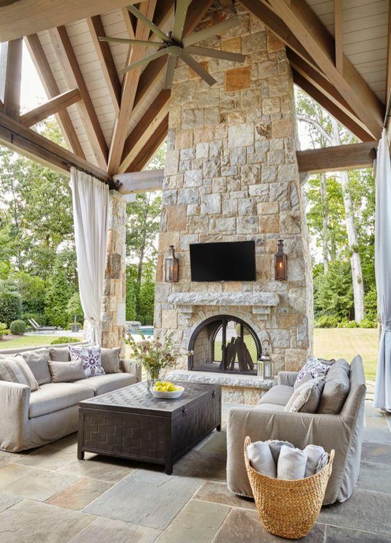 Backyard Fireplace Ideas 10