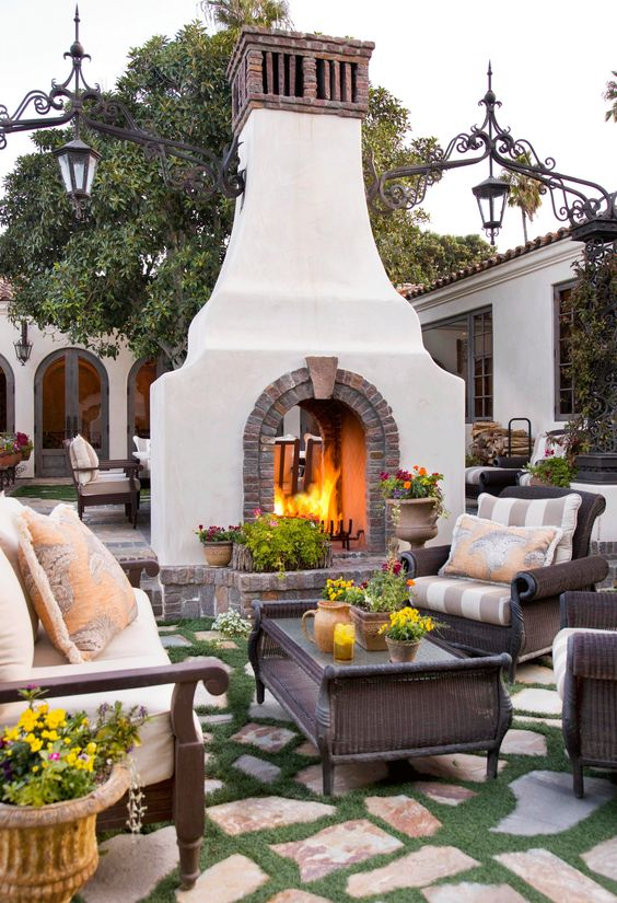 Backyard Fireplace Ideas 12