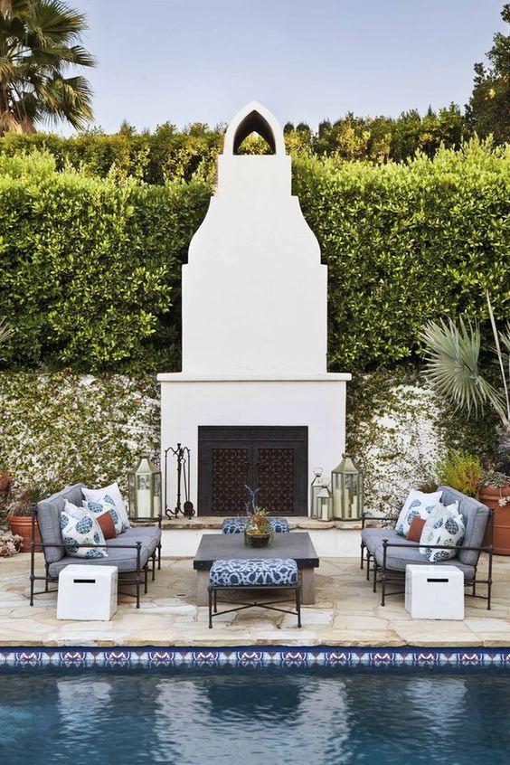 Backyard Fireplace Ideas 13