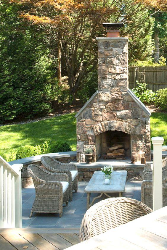 Backyard Fireplace Ideas 15