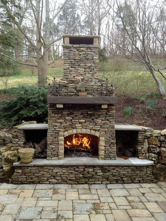 Backyard Fireplace Ideas 6