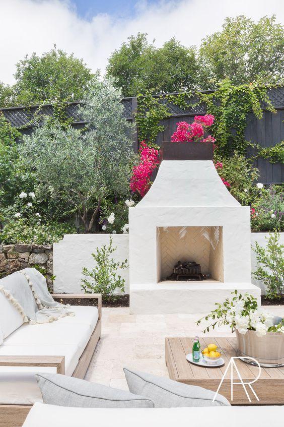 Backyard Fireplace Ideas 8